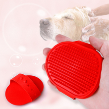 Pet Grooming Comb Rubber massage brush Pet Dog Cat Shower Bath Brushes Gloves Brush Comb Pet Clean Grooming Tools For Dogs Cats hot sale pet grooming tools anti static massage steel needle comb for puppy