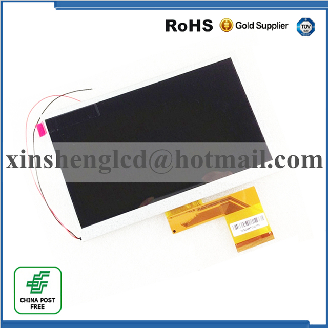 "New LCD Display 7"" TurboKids S3 Turbopad Tablet 1024X600 inner LCD screen panel Matrix Module Replacement Free Shipping"