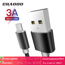 3A Micro USB Cable 3M Fast Charging Nylon USB Sync Data Mobile Phone Android Adapter Charger Cable for Samsung xiaomi redmiCable(China)
