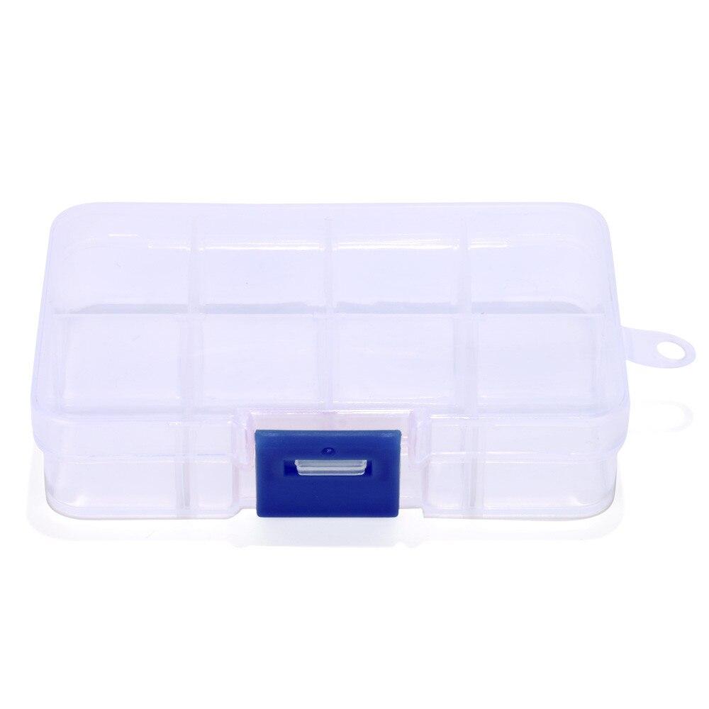 Plastic 8 Slots Adjustable Jewelry Storage Box Case Craft Organizer Bead torage Box Case Holder Craft Organizer