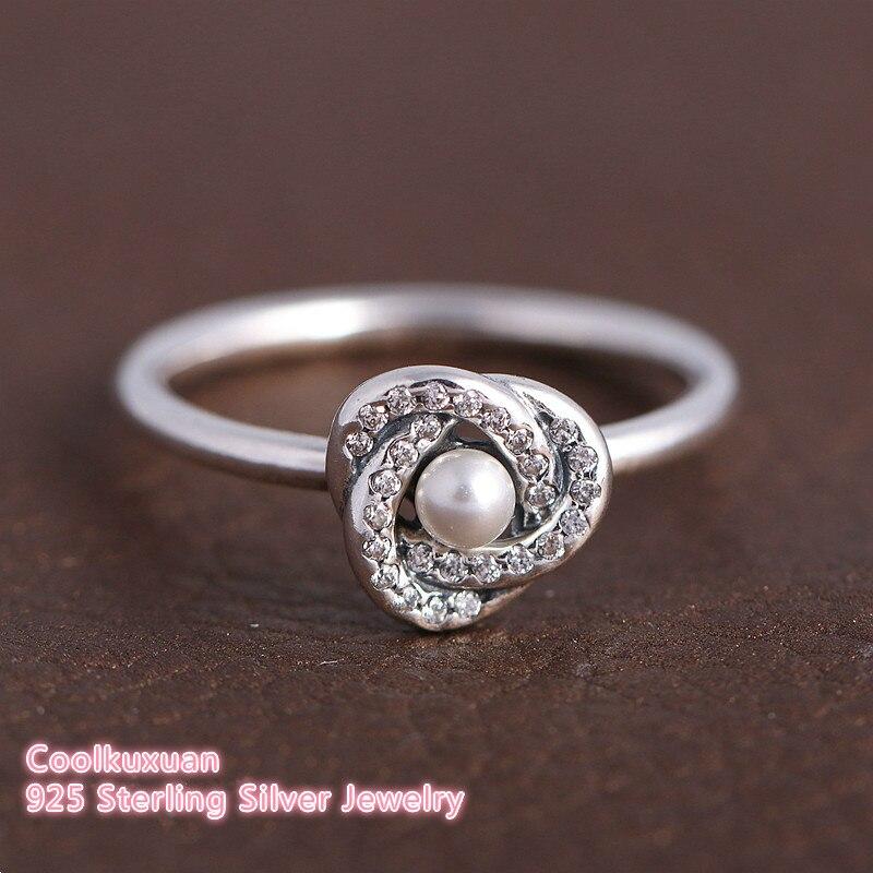 White Pearl Pandora Ring