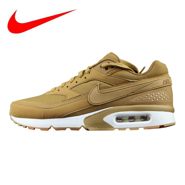 83d38caf20 Original Nike Air Max BW Wheat Men's Running Shoes ,Brown,Lightweight Shock  Absorption Breathable Wear-resistant 881981 200