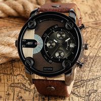 2017 New Big Dial Men Watch Date Display Male Wrist Quartz Watch Stylish Army Pilot Ourdoor