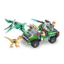 Jurasico 2 mundo tiranosaurio Pterosauria Velociraptor edificio Chase bloques dinosaurio cifras ladrillos Juguetes