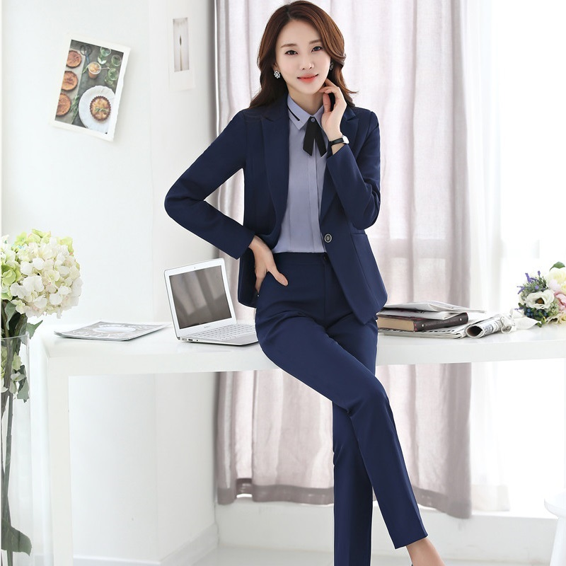 0125daa0ab2 professional women pants suits business long sleeve plus size 4XL fashion  elegant formal office blazer with ...