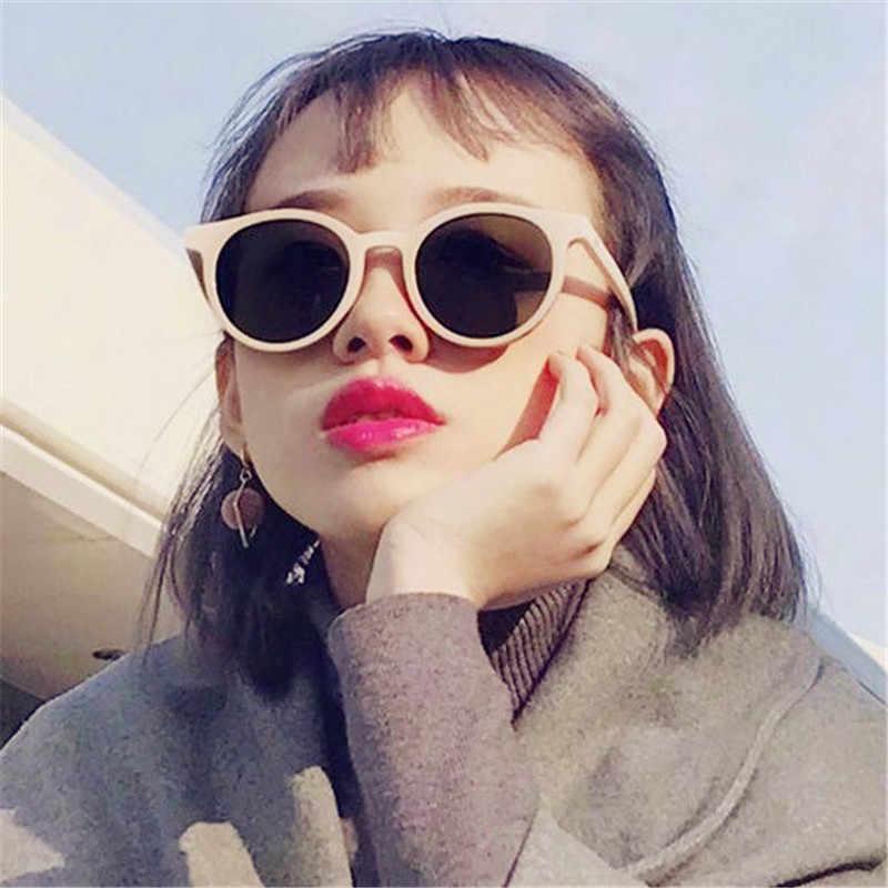 1de1219737 CURTAIN Gafas de sol Mujer Lunette de Soleil 2019 New White Retro  Sunglasses Trend Wild Korean