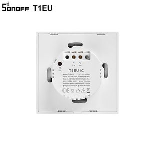 Image 5 - Sonoff novo t1eu wifi interruptor inteligente tela de toque remoto ligar/desligar 1/2/3 gang 433mhz rf/voz/app/controle toque 86 tipo casa inteligente tx