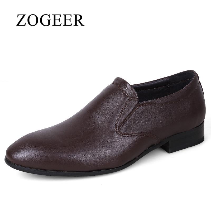 Zapatos para hombres, zapatos de vestir de cuero genuino para - Zapatos de hombre