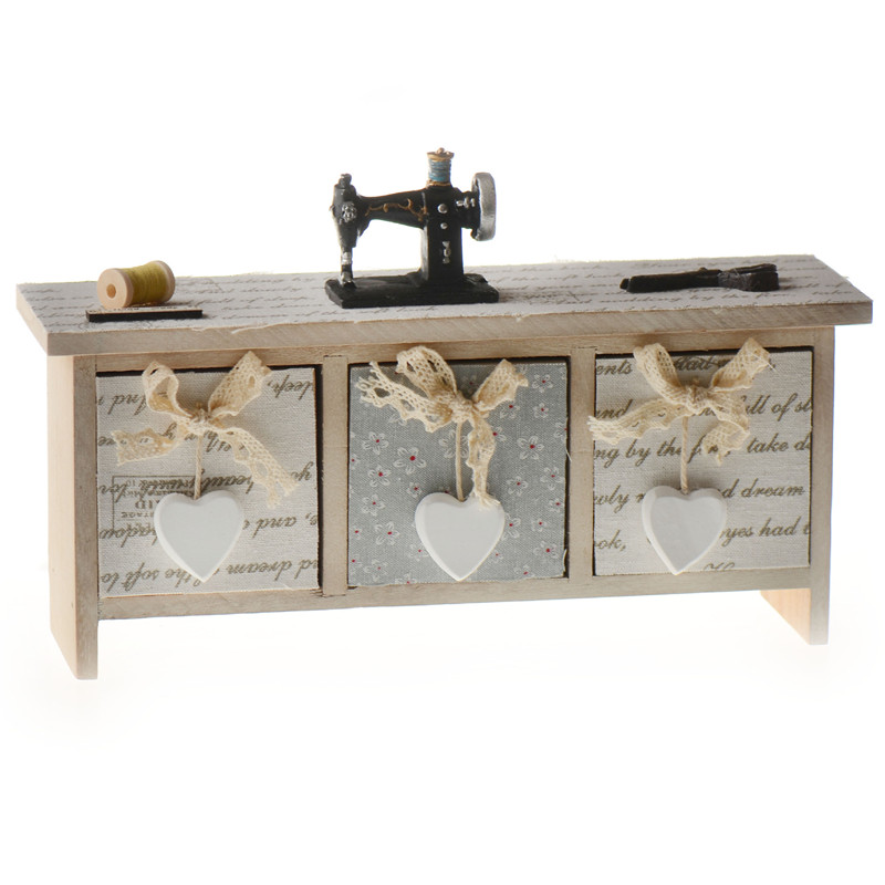 wood 3 cabinet christmas music box home decoration sewing machine movement diy gift box romantic musica