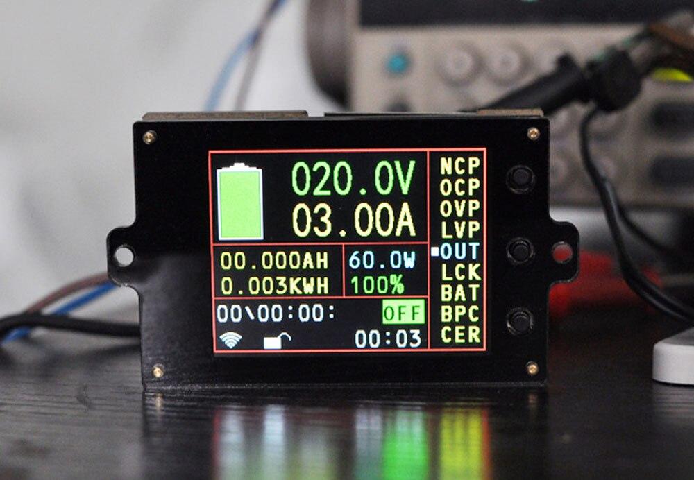 Batterie moniteur compteur DC 120 V 50A sans fil voltmètre numérique ampèremètre température puissance Watt capacité détecteur charge décharge