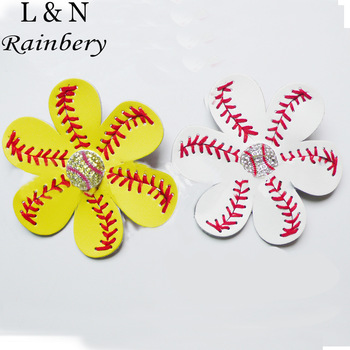 Gum For Sport Hair Jewelry Seamed Lace Leather Hairpin Herringbone Softball Fast Pitch Baseball Stitch Hair Jewelry