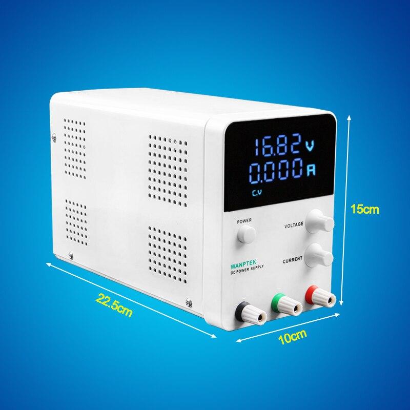 Wanptek réglable dc alimentation GPS3010D Variable 30 V 10A Réglementé la puissance modul de commutation Numérique laboratoire alimentation - 5