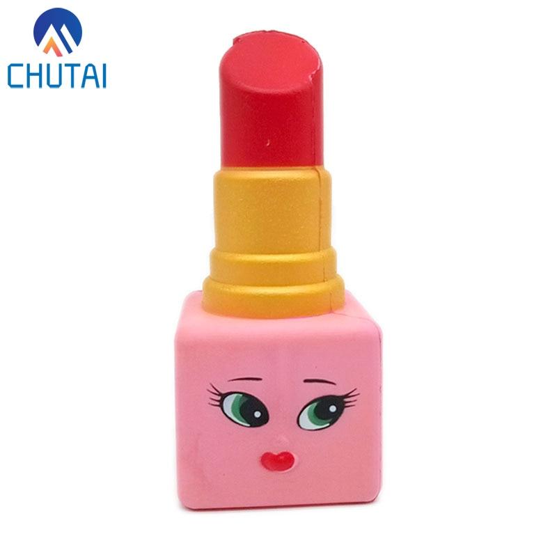 Jumbo Kawaii Squishi Women Lipstick Design Squishy Slow Rising Novel Kids Children Stress Relief Toy Squeeze Toys 14*6*6 CM