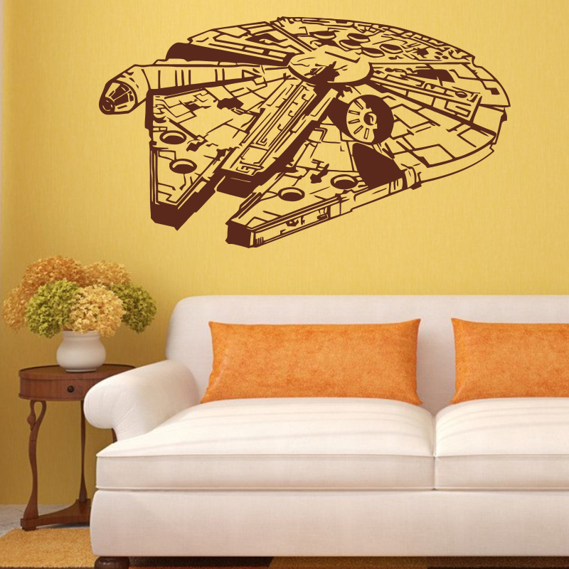 Star Wars Wall Sticker Vinyl Home Decor Decal 3D Millennium Falcon ...