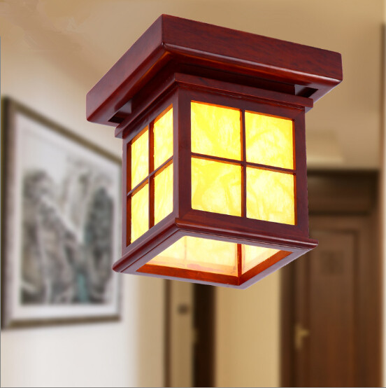 Chinese style antique solid wood red frame ceiling lights Rural brief parchment Led lamp for porch&stairs&pavilion&tearoom MF014 free shipping car refitting dvd frame dvd panel dash kit fascia radio frame audio frame for 2012 kia k3 2din chinese ca1016