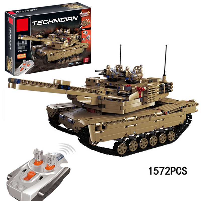 Military World War 2 in 1 the Remote Control RC Tank Set Building Blocks Bricks Legoings Technic Toy Christmas Gift 1572pcs moc technic the remote control rc tank military war assembly building block brick toy for boys christmas gift 20070