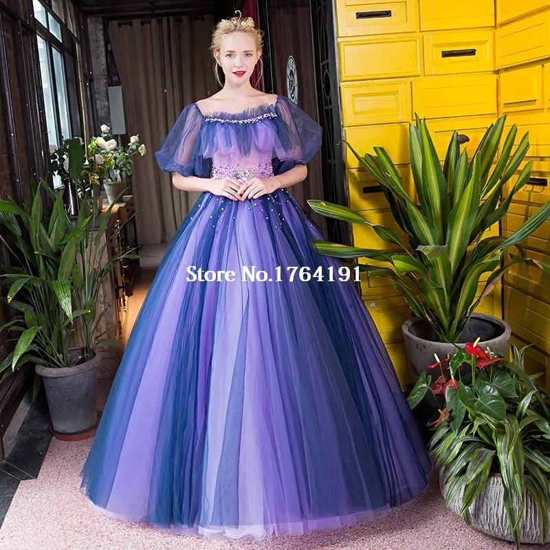Hermosa Vestido De La Dama Azul De La Vendimia Colección - Ideas de ...