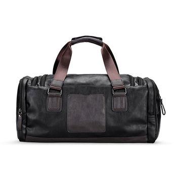 bajo precio 9a01b 245c4 Bolsa de gimnasio de cuero para hombre, bolsas deportivas, bolsa de viaje  para equipaje, bolso de mano para hombre