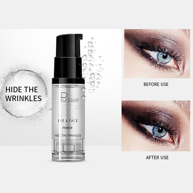 Pudaier Natural Base Under the Shadows Primer prolong Eyeshadow Make up Long-lasting Eye Liquid Hide Wrinkles Keep Eye perfectly