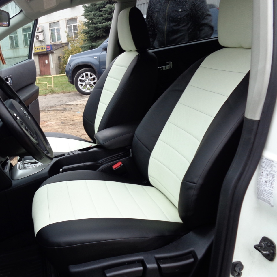 Para Nissan Qashqai J10 2006-2013 fundas de asiento conjunto completo piloto automático Eco-cuero