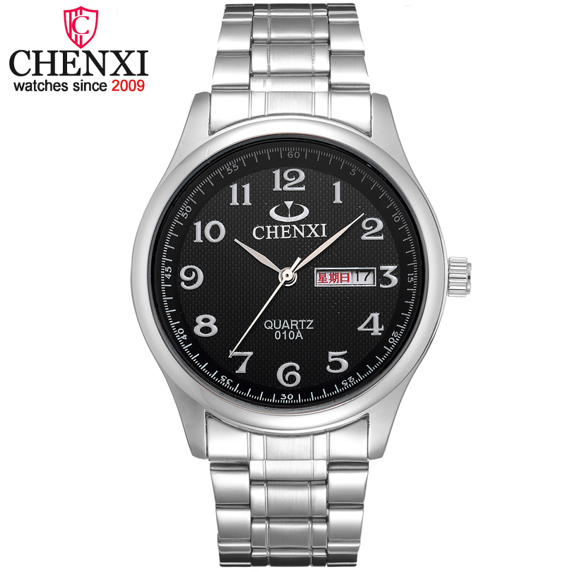 все цены на  CHENXI Brand Fashion Luxury Gift Clock Man Wristwatch Stainless Steel Quartz Gentleman watch Date Day Design classic Men Watches  в интернете