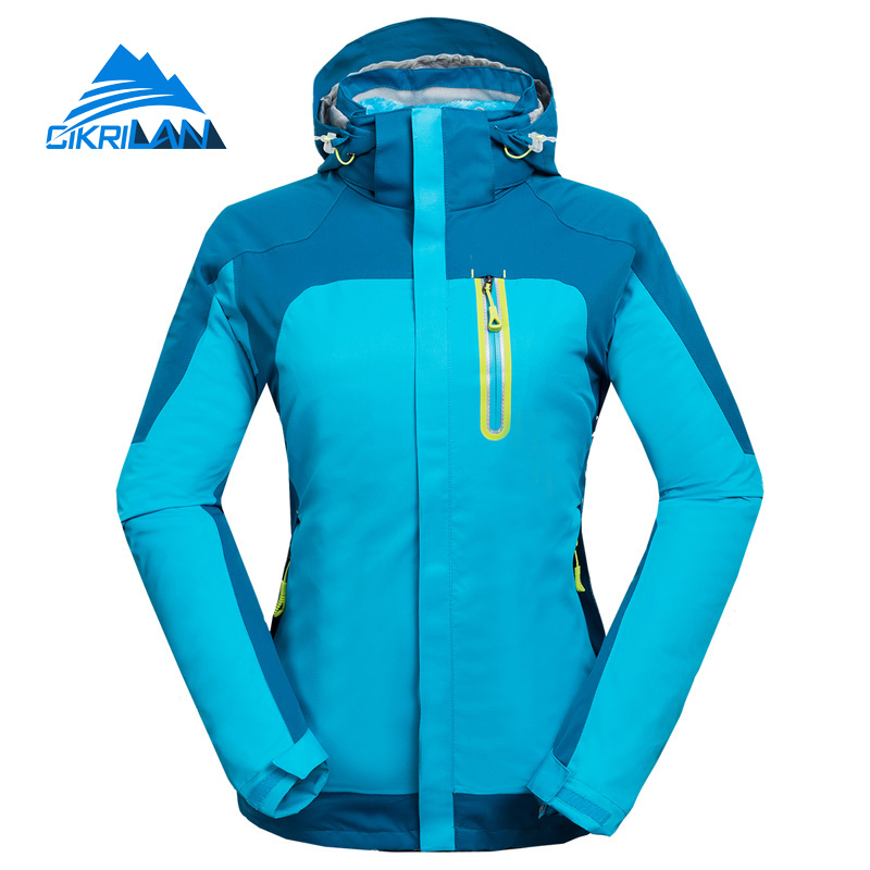 Hot Sale New 2in1 Camping Hiking Winter Jacket Women Outdoor Windstopper Chaquetas Mujer Sport With Detachable Fleece Inner Coat hot sale windstopper water resistant coat 2in1 hiking winter jacket women outdoor veste breathable camping chaquetas mujer