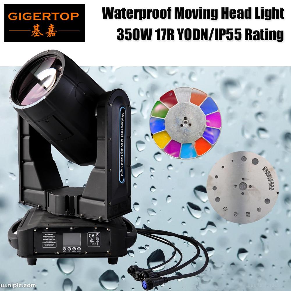 Gigertop TP-L350W Outdoor DMX Beam Spot 350W 17R Moving Head Lighting Rain Covers IP55 Waterproof Moving Head Light 110V-220V