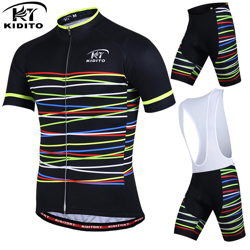 KIDITOKT MEN Cycling Kit Mtb Cycling Sets Road Bike Clothing Breathable Bike Suit Short Sleeve Cycling Jerseys Cycling Suit cycling clothing rushed mtb mavic 2017 bike jerseys men for graffiti cycling polyester breathable bicycle new multicolor s 6xl