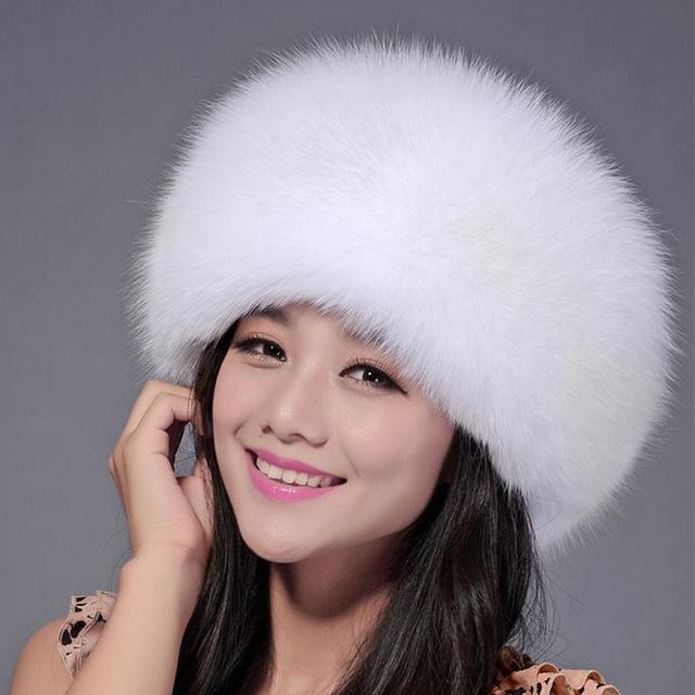 2016 Novo Chapéu de Pele De Raposa Natural Com Couro Genuíno Da Senhora Princesa estilo Real Fox Fur Cap Chapéu Da Forma Chapelaria Das Mulheres Reais Da Pele chapéus