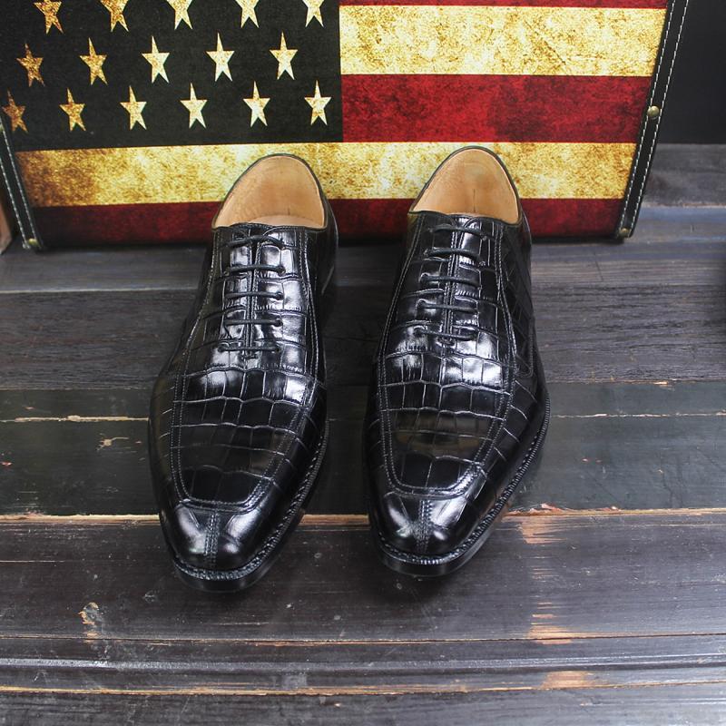 Sipriks الماركات المطبوعة التمساح أحذية رجالي يير مجلود اللباس أحذية مدرب الأعمال مكتب أوكسفورد أحذية للرجال الاجتماعية 46-في أحذية رسمية من أحذية على  مجموعة 2