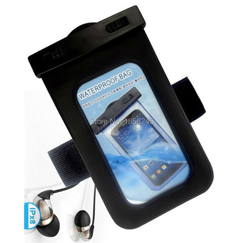 With Waterproof Earphone 5.5 Inch PVC Waterproof Phone Pouch Arm Strap Drawstring Underwater Bags For Diving Outdoor Swimming pochette étanche pour téléphone