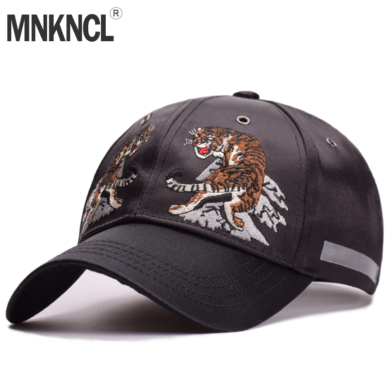 MNKNCL High Quality Unisex 100% Cotton Outdoor Baseball Cap Tiger Embroidery Snapback Fashion Sports Hats For Men & Women Caps fashion printed skullies high quality autumn and winter printed beanie hats for men brand designer hats