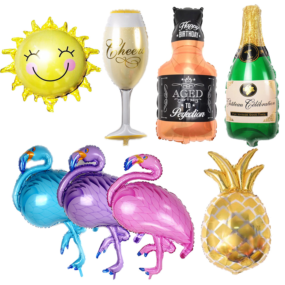 1pc Gold Pineapple Flamingo Aluminum Balloon Party Decorations Birthday Party Supplies Pool Party Beach Party Decoration ...