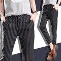 Pantalones del harem de la raya de las mujeres del verano más tamaño pantalones casuales pantalones