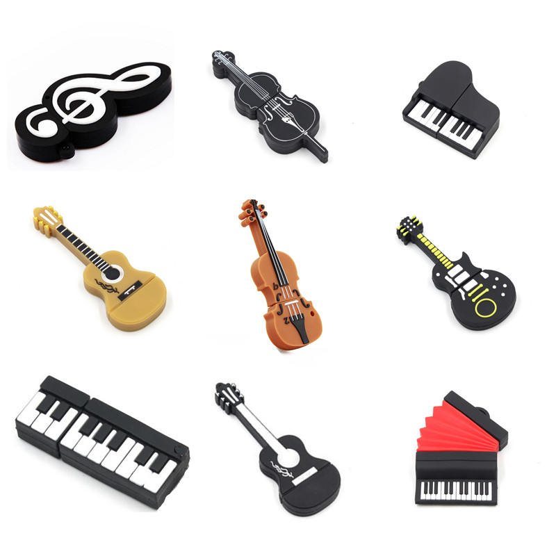 usb flash stick musical instruments model microphone piano guitar pen drive 2 0 usb flash drive. Black Bedroom Furniture Sets. Home Design Ideas