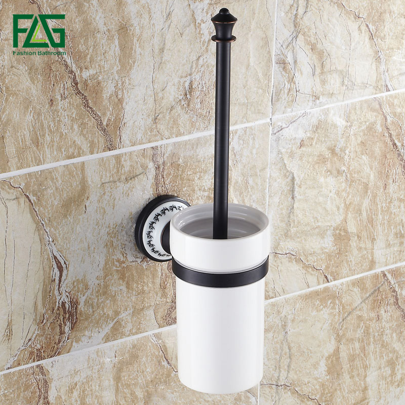FLG New Design Hot Sale Toilet Brush With Holder Wall Mounted Oil Rubbed Bronze Bathroom accessories Toilet Brush Holder G906 hot sale wholesale and retail promotion oil rubbed bronze wall mounted bathroom toilet paper holder tissue bar holder