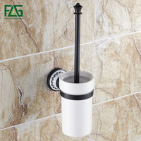 FLG New Design Hot Sale Toilet Brush With Holder Wall Mounted Oil Rubbed Bronze Bathroom accessories Toilet Brush Holder G906