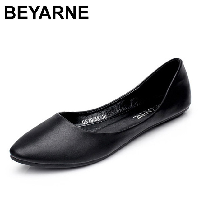 BEYARNE New Arrival 2019 Spring and Autumn Women's Loafers Loafers Women Flat Heel Shoes Boat Shoes Casual Free Shipping
