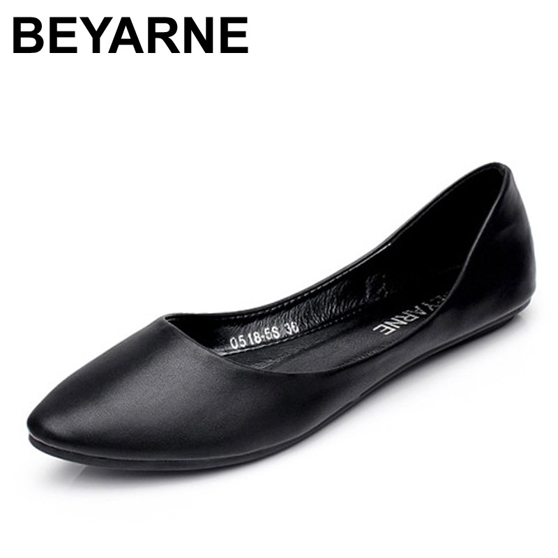 BEYARNE New Arrival 2018 Spring and Autumn Women's Loafers Loafers Women Flat Heel Shoes