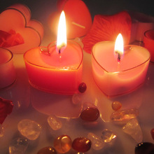 Heart Shaped Candles 50 pcs/lot