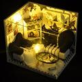 Ручной работы Кукольный Дом Мебель Миниатюрный Кукольный Домик Миниатюре Diy Кукольные Домики Деревянные Игрушки Для Детей Подарок На День Рождения Ремесло TW17