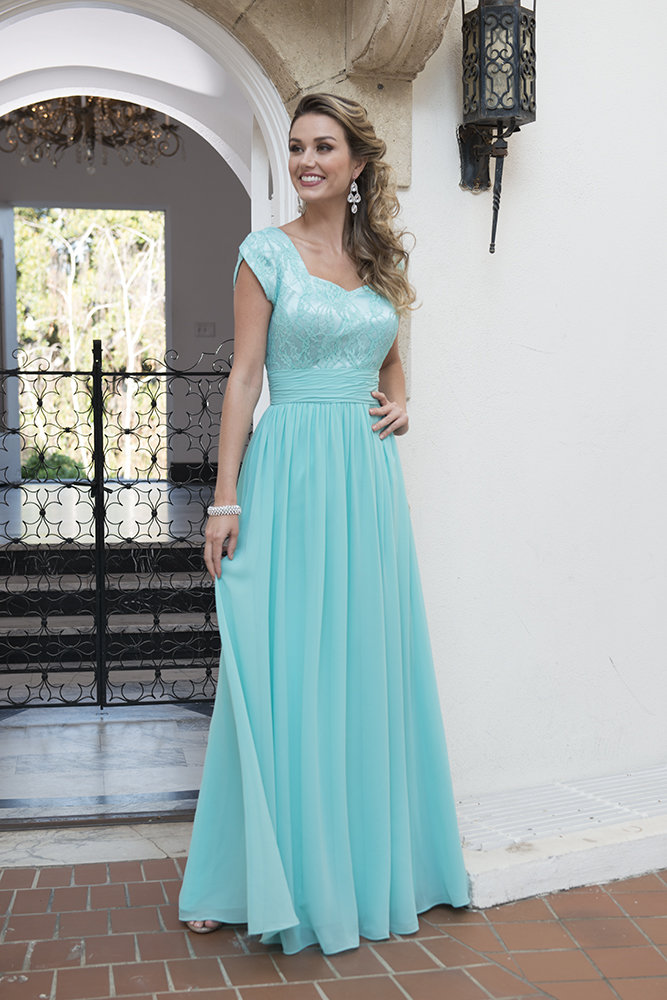 Cecelle 2016 Jade Modestos Vestidos Cap Mangas Larga de Encaje de ...