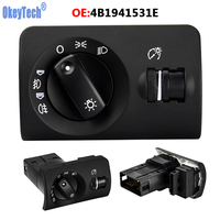 OkeyTech 4B1941531E Headlight Switch For Audi A6 4B C5 AVANT S6 2002 2003 2004 2005 With Dashboard Light Adjuster 4B1 941 531 E