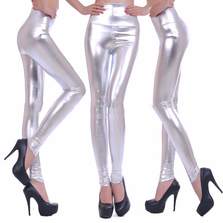 2017 New Women Sexy Leggings Faux Leather Stretch Legging High Waist Leggings Juniors Pants 4 size 21 Colors 18