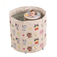 Hot Sale 0 4 year Baby swimming bucket family newborn baby large folding bath basin baby swimming pool Adjustable scaffolding