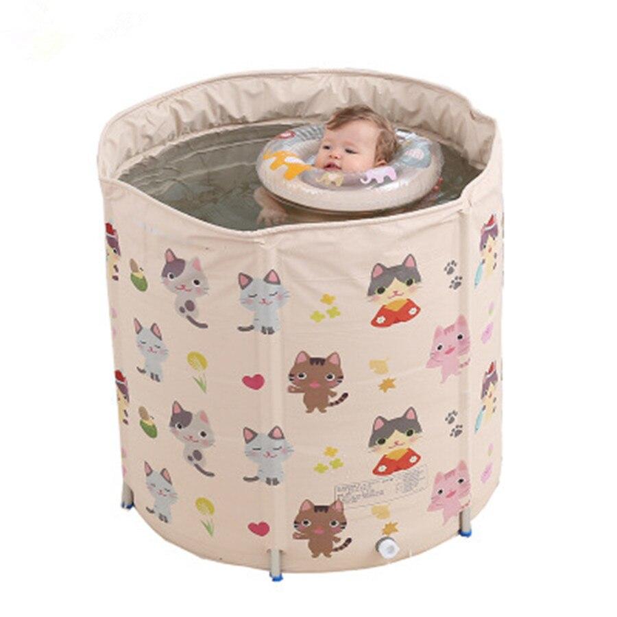 Offre spéciale 0-4 ans bébé natation seau famille nouveau-né bébé grand bassin de bain pliant bébé piscine réglable échafaudage