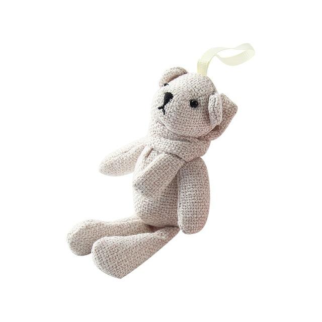 Keychain Brinquedo de pelúcia Pingente Urso de Pelúcia Boneca Boneca Boneca Urso Saco de Estopa Pingente Garra Pingente De Carrinho De Criança Kid Presente