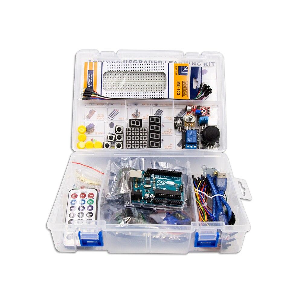 UNO R3 КОМПЛЕКТ Модернизированная версия для Arduino Starter Kit RFID узнать люкс Шаговые двигатели + ULN2003 Бесплатная доставка 1 комплект