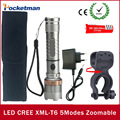1set Super Bright LED flash light Torch  cree xm-l t6 LED linterna tactica zaklamp + 18650 battery+Charger+ Holder flashlight