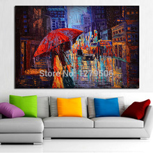 High Quality handmade Canvas Painting Knife Oil Home Decor Quardr Wall Pictures Colorful oil painting Artworks picture